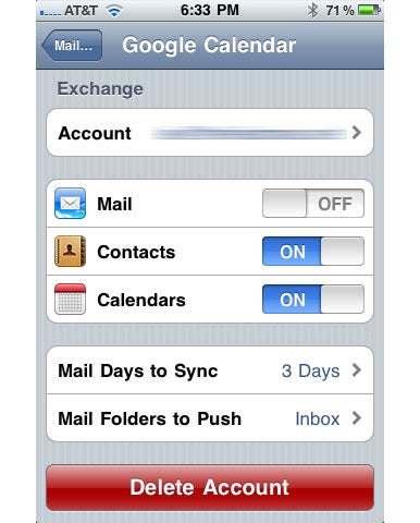 Sync with your iPhone