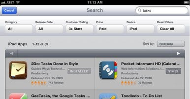 apple app store search
