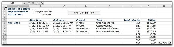 Time-billing worksheet