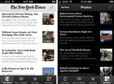 new york times 3 0 for iphone gets more content macworld