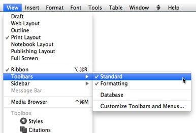 Reveal toolbars