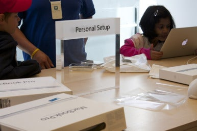 phone set up apple appointment in store can