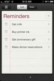 iOS reminders