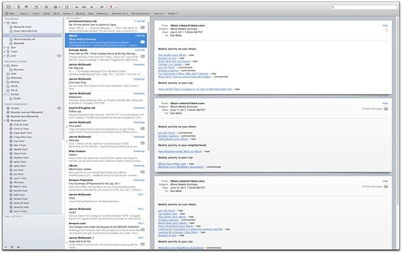 Mail full-screen