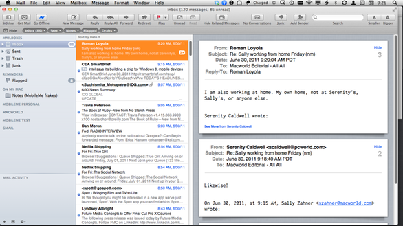 how to change layout in bll email