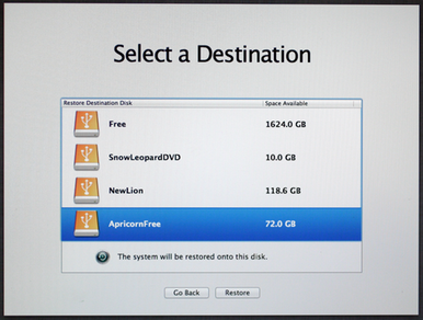 restore mac from time machine backup lion