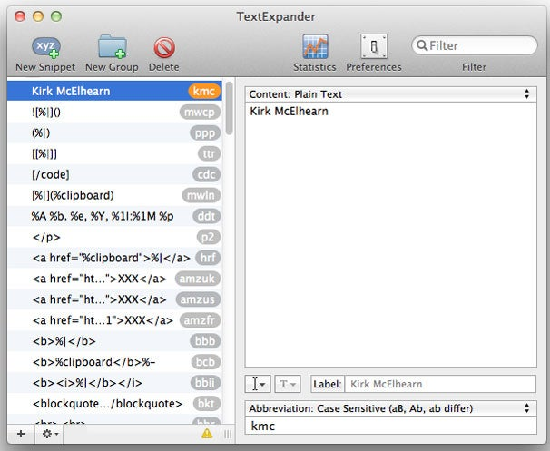 TextExpander for Mac