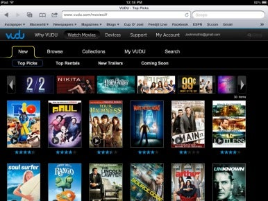 Vudu video-streaming service adds iPad support | Macworld