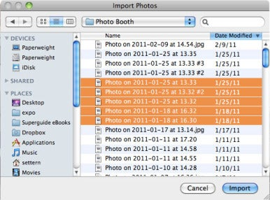 how to import iphoto library to external hard drive