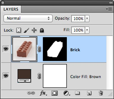 Arrange your layers so that the photo and its mask are the topmost layer, with a color fill layer underneath.