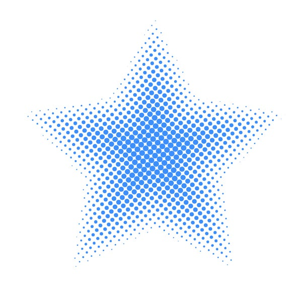 The completed vector halftone can be changed into any color you wish.
