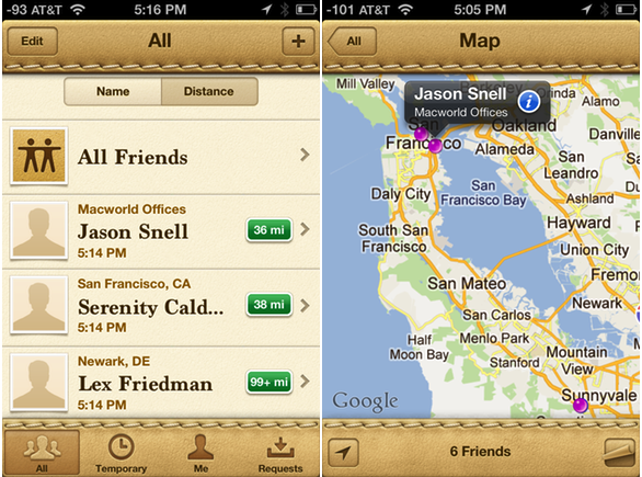 find my friends iphone on with find my iphone mac and friends macworld 14084