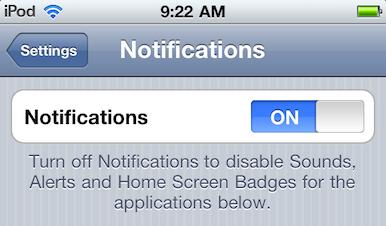 Turn off iOS 5 notifications | Macworld