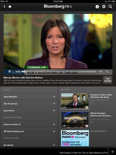 Bloomberg TV+ app streams live television to the iPad | Macworld