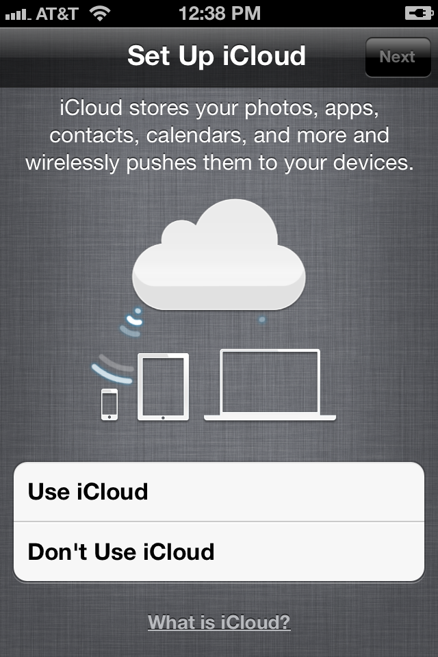 how to set up icloud for iphone 5