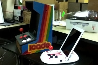 The iCade and the Atari Arcade side-by-side.