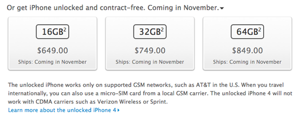 Iphone 4 Price In Usa Unlocked Without Contract