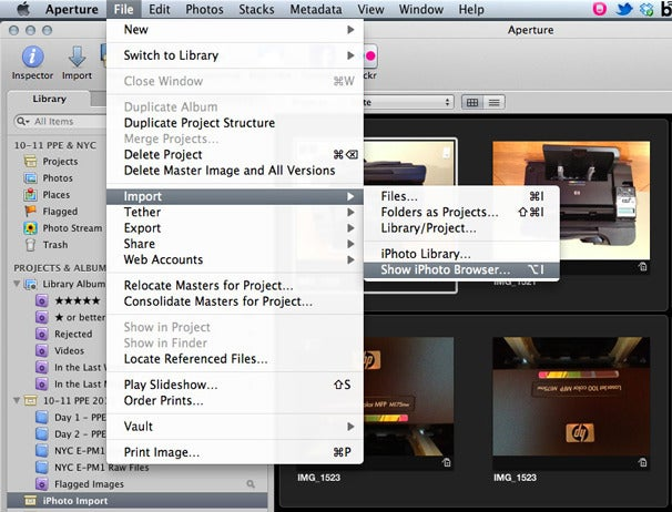Control Photo Stream with iPhoto and Aperture