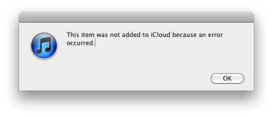 Consolidating itunes library failed test