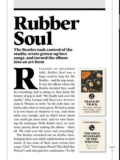 rolling stone s beatles album by album guide for ipad macworld the word rolling stone s app begins its look at each beatles album a thoughtful overview essay and then goes deeper an additional short essay