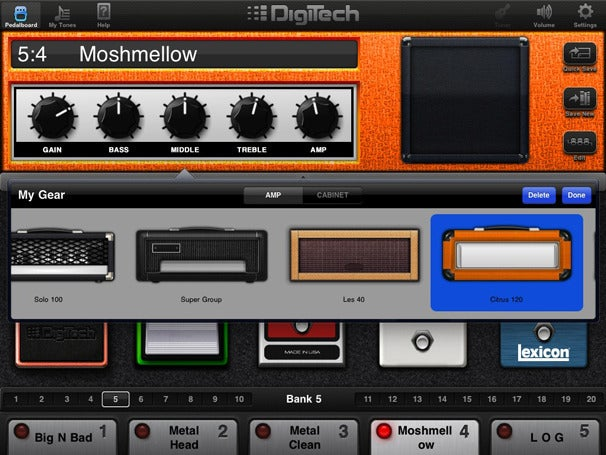 hands on with the digitech ipb 10 guitar effects pedalboard macworld. Black Bedroom Furniture Sets. Home Design Ideas