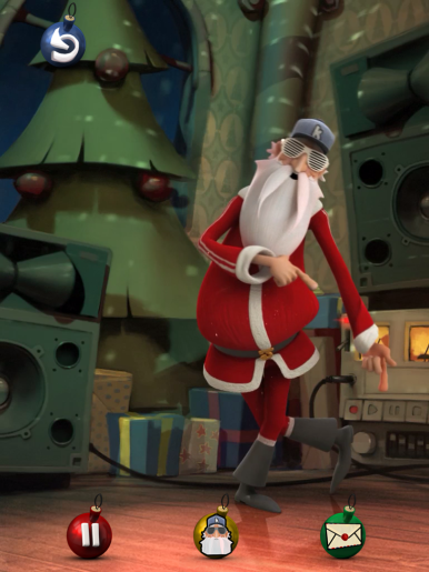 Watch Santa perform (or butcher) your favorite Christmas songs.