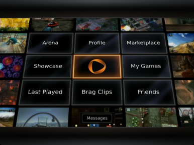 OnLive homescreen