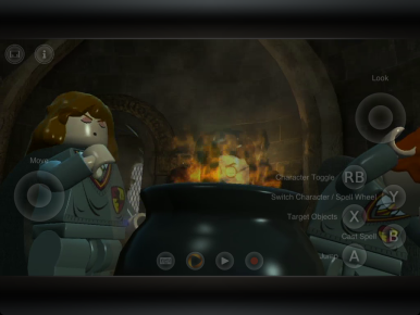 LEGO Harry Potter uses a touch overlay for gameplay.