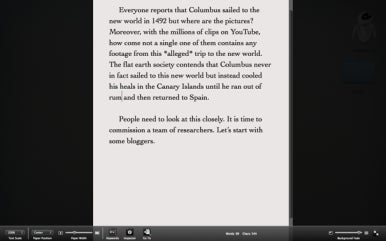 Scrivener's full-screen mode