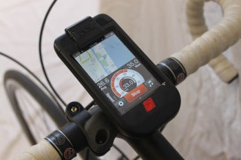 iBike makes a case to mount your iPhone on your handlebars.