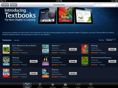 These textbooks are ready for purchase in the iBookstore.