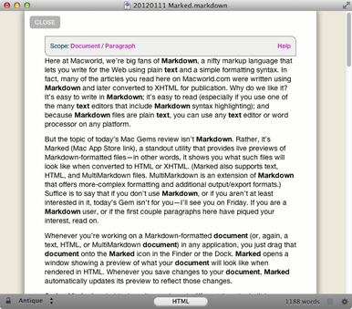Marked excels at previewing Markdown and HTML documents | Macworld