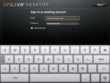 OnLive sign-up