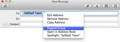 Groups in Mail