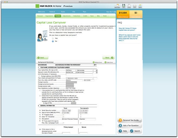 H R Block 39 S At Home Tax Software Offers Excellent Tools