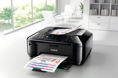 The Canon Pixma MX512 now ships with AirPrint support.