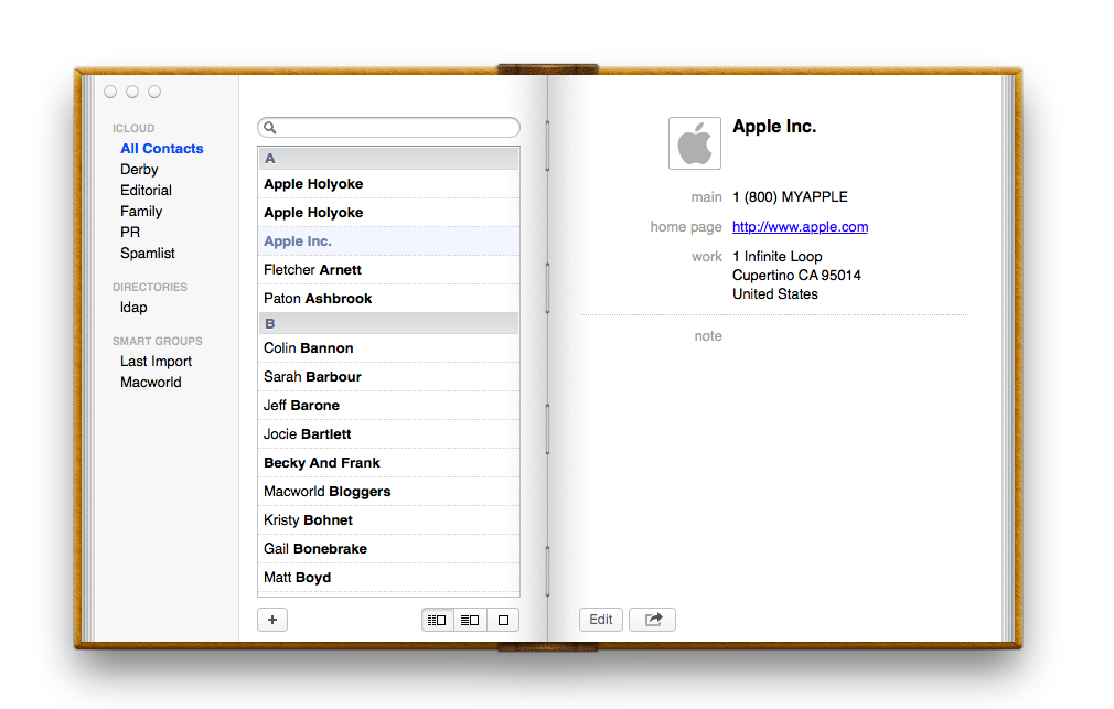 Mountain Lion: Hands on with Contacts and Calendar | Macworld