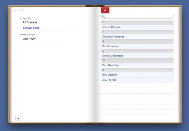 Groups in Address Book and Mail