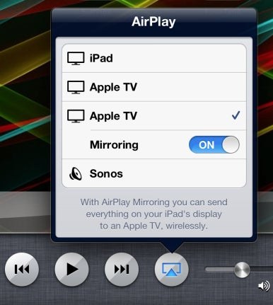 Airplay icon not showing up on ipad 2