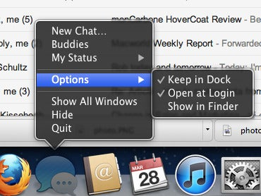 Set apps to launch straight from your dock.
