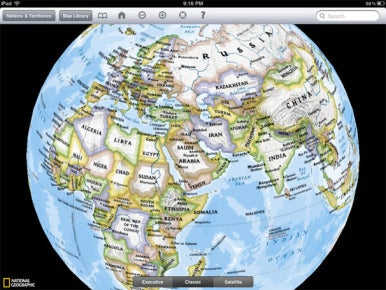 World atlas hd and the world by national geographic for ipad macworld going global world atlas hd features a global view that you can spin and rotate with the touch of a finger zooming in on a particular country is as simple gumiabroncs Choice Image