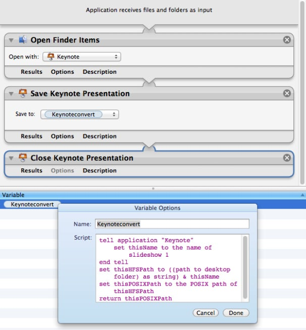 Automator workflow of the month: Convert PowerPoint to Keynote