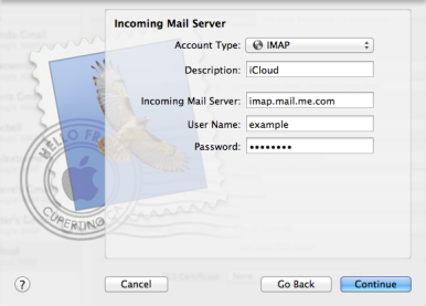 Manually configuring an iCloud email account | Macworld