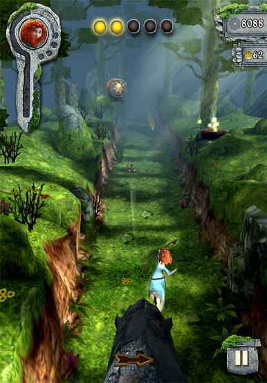 One of the new features of Temple Run: Brave is an archery game.