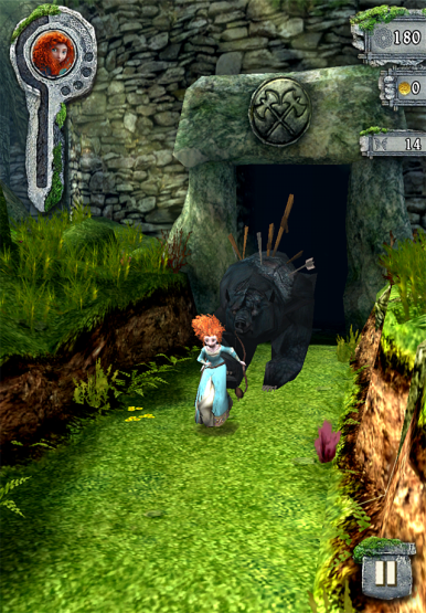 Help Merida run away from Mordu.