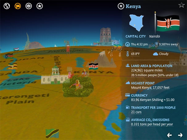 Barefoot world atlas for ipad macworld barefoot world atlas presents a 3d and animated globe dotted with landmarks people and objects the app also pulls real time details like current gumiabroncs