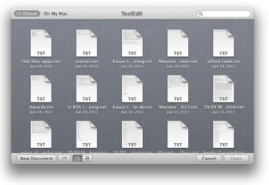 iCloud Document Library