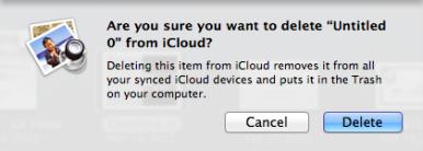 iCloud delete