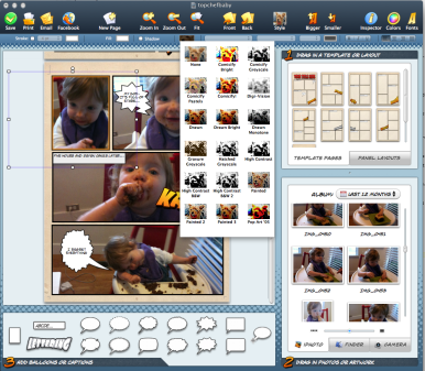 Use comic life 2 to create comic strips with your own for Easy app design
