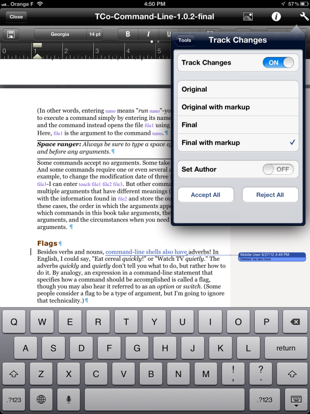 enable editing in word on ipad
